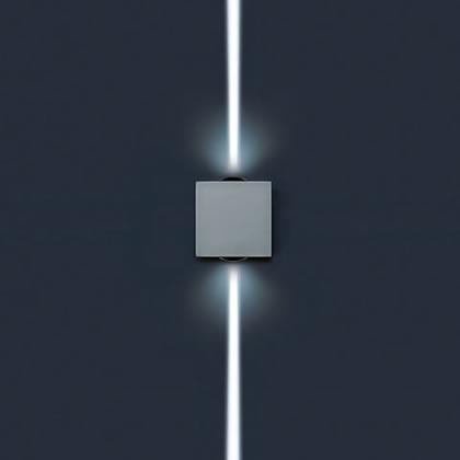 Lift Applique Quadrata Hit tc Cri 35w 2 fascio estrechos 2ú Corten