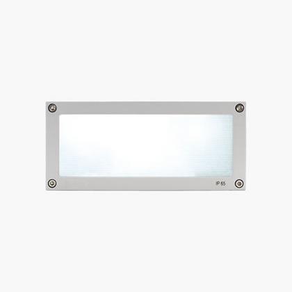 Megabrique Recessed wall rectangular 6 Accent LED 3200k 15w 230v Grey Aluminium