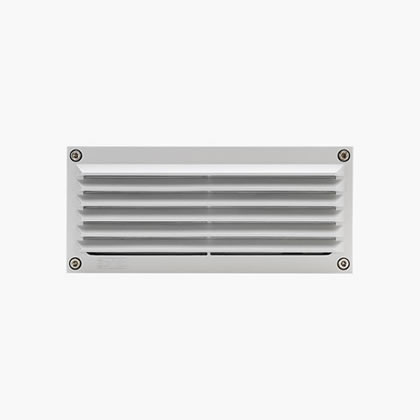 Megabrique Recessed wall rectangular with grill 6 Accent LED 6000k 15w 230v Black