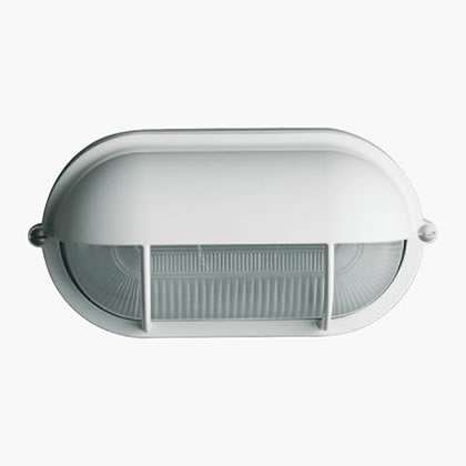 Plafoniere Wall Lamp oval with visera Tc-d 18w white