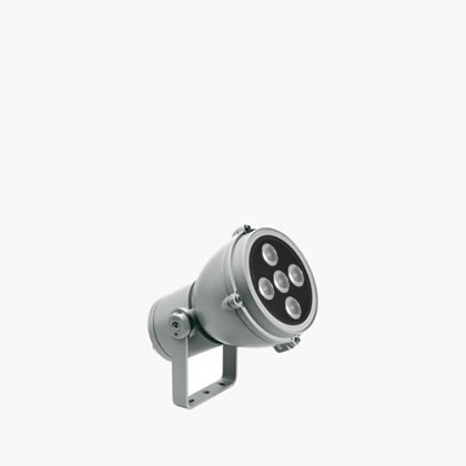 Microfocus proyector 4 Accent LED 6000k 10w 230v 22ú gris Aluminio