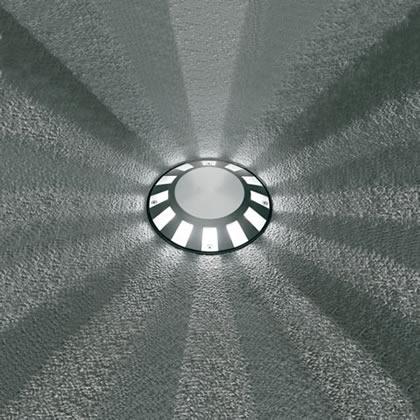 Microsparks 1 Accent LED 6000k 1w 230v 12 haces de luz gris Aluminio