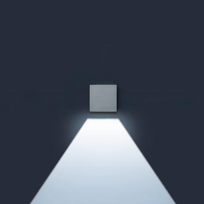 Minilift Wall Lamp LED 1x1 Accent LED 6000k 2,5w 1 beam wide Grey Aluminium