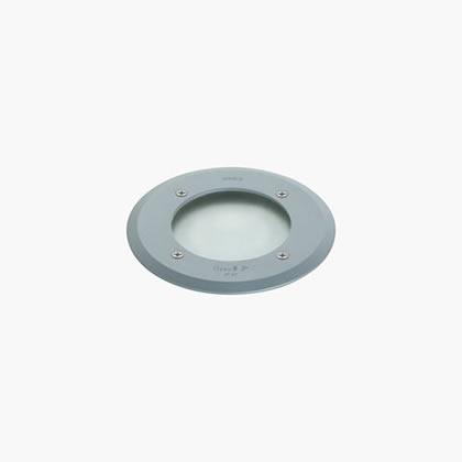 Minizip Recessed suelo Round 1 Soft LED 3200k 230v 1,5w Grey Aluminium