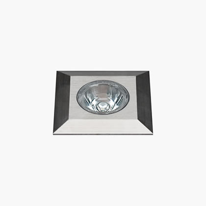 Nanoled Calpestabile Quadrato 45mm 1 Accent LED 6650k 1,25w Stainless Steel