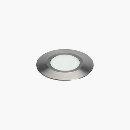 Nanoled Recessed suelo Round 45mm 1 Soft LED 6000k 1,25w 24v Stainless Steel