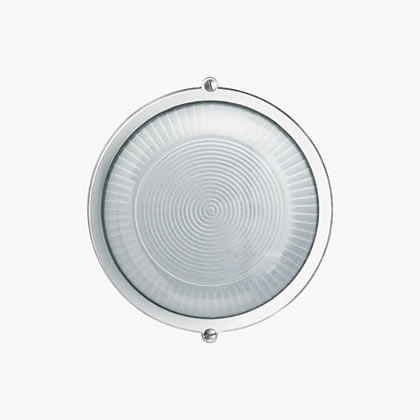 Plafoniere Wall Lamp Round with grill A60 60w Black