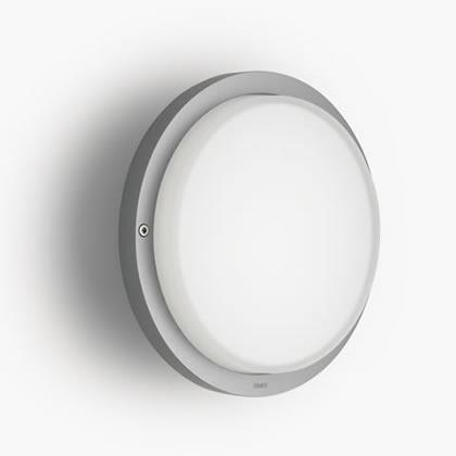 Zen Applique Rotonda Grigio LED 3200k 10w 230v Grigio Alluminio