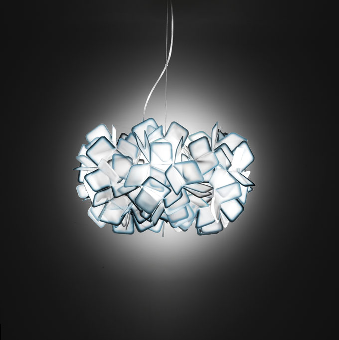 Clizia Pendant Lamp E27 2x20w Blue