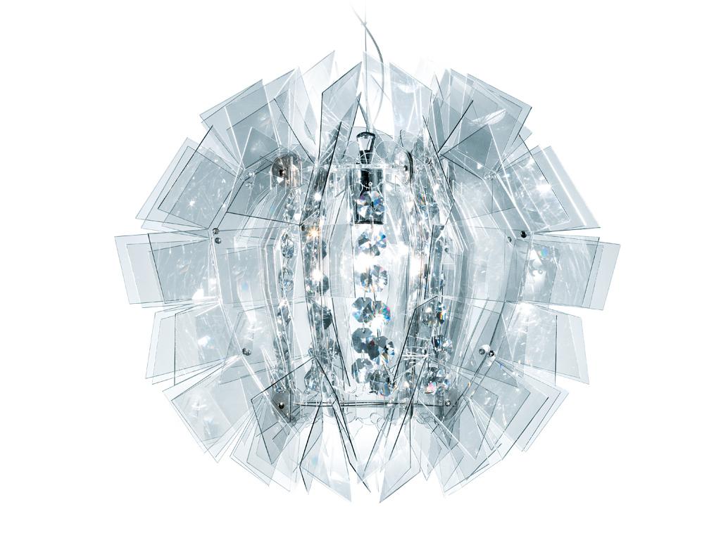 Crazy diamond suspensão 1xE27 100w Transparente