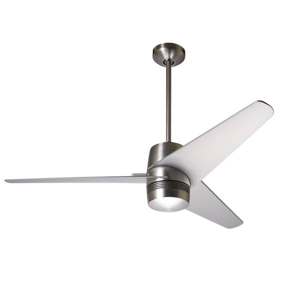 Velo Fan níquel brillo Aspas 127cm without light wall control