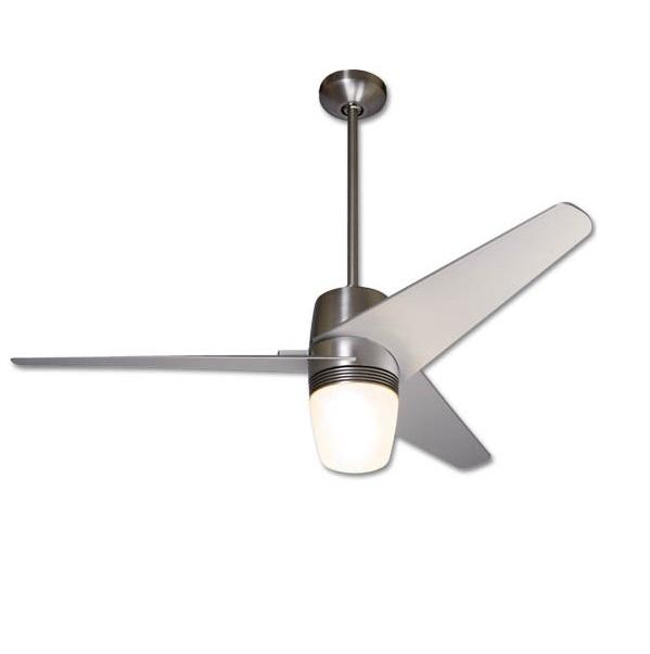 Velo Fan níquel brillo Aspas 127cm with light wall control