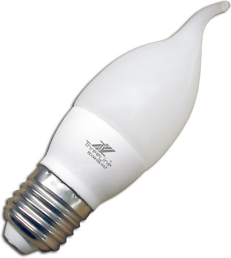 Bombilla LED tipo vela con Base cerámica 2,6W