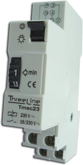 Minutero Temporizador de escalera Rail DIN (1 mod)