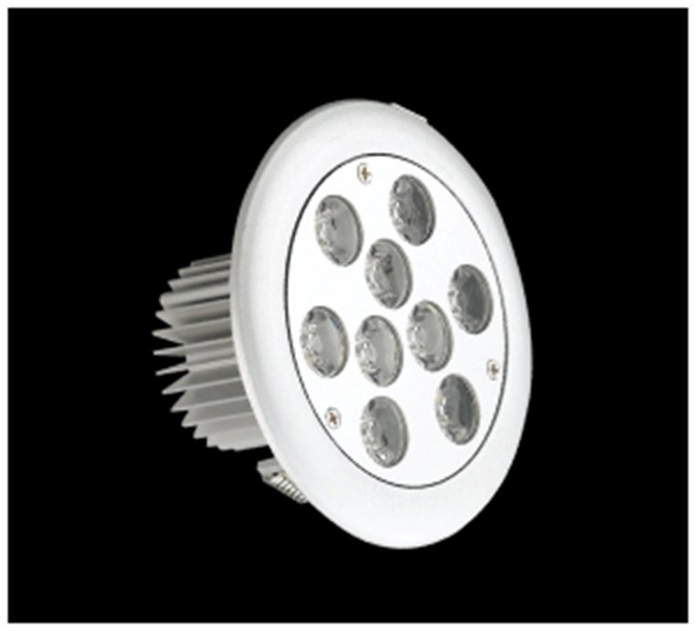 SERIE TG LED Downlight, body Aluminium, óptica Transparent 2 PIN 9x 9W