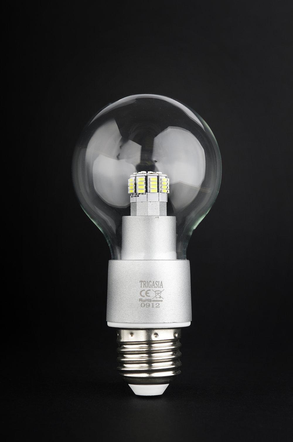 SERIE TG LED Lampadina óptica policarbonate Trasparente E27 48x 6W