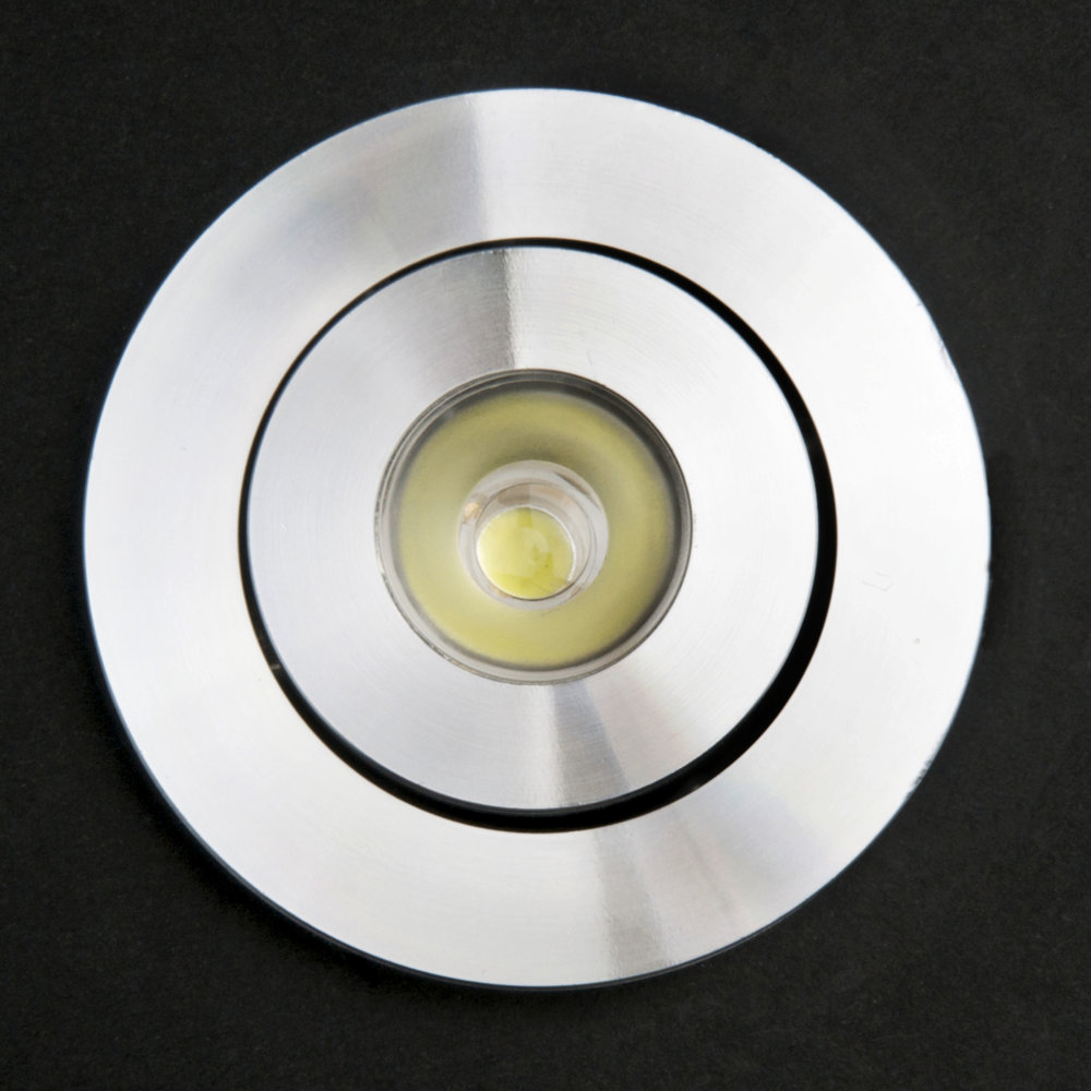 SERIE TG LED Downlight, body Aluminium, óptica Transparent 2 PIN 1x1W