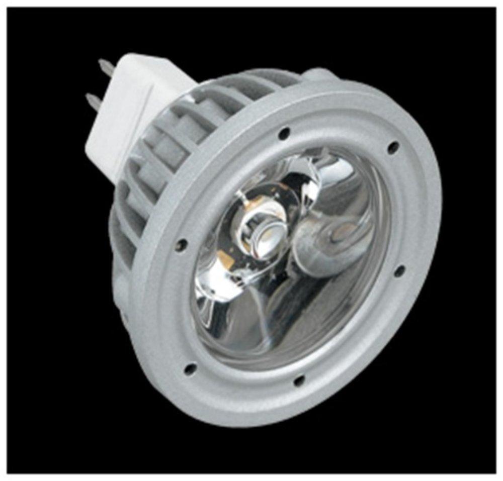SERIE MG LED Lampada tipo dichroic, corpo Alluminio, óptica Trasparente GU5.3 1x3W