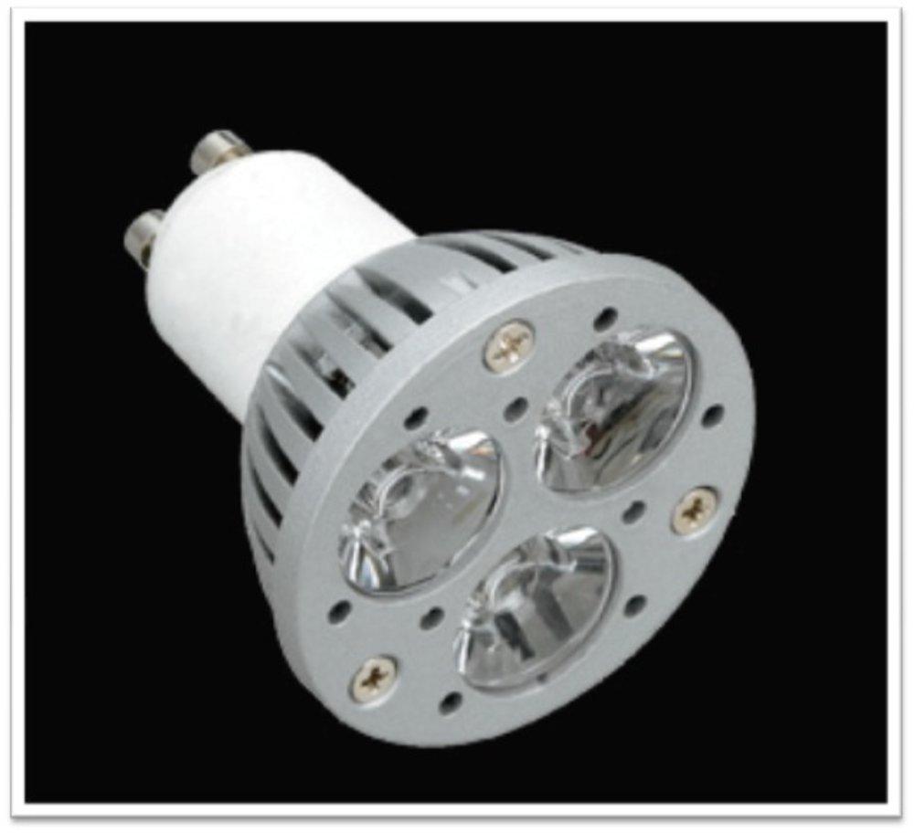 Lámpara LED GU10 dichroic Serie MG Alluminio óptica Trasparente 1x1W = 3W