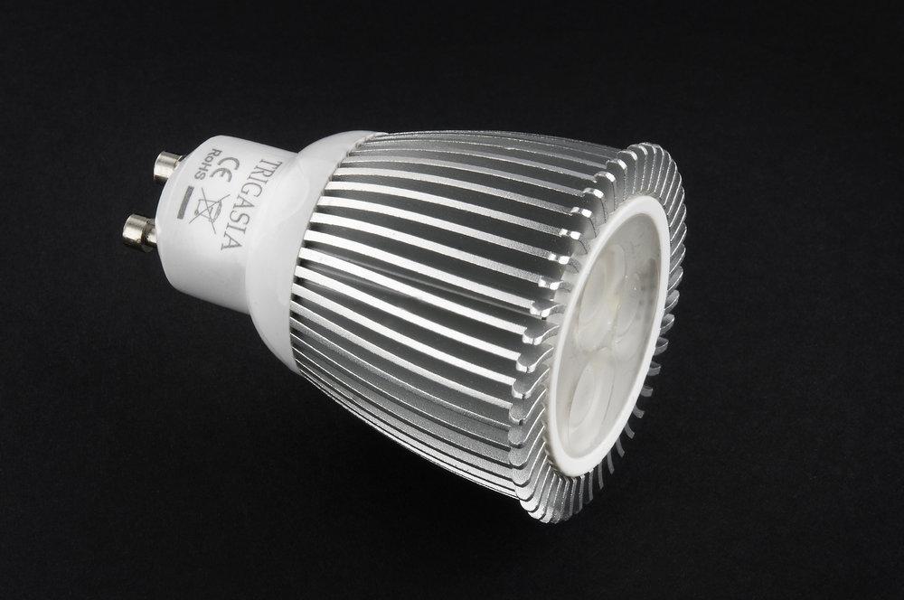 Lámpara LED GU10 dichroic Serie MG Alluminio óptica Trasparente 3x2W = 6W