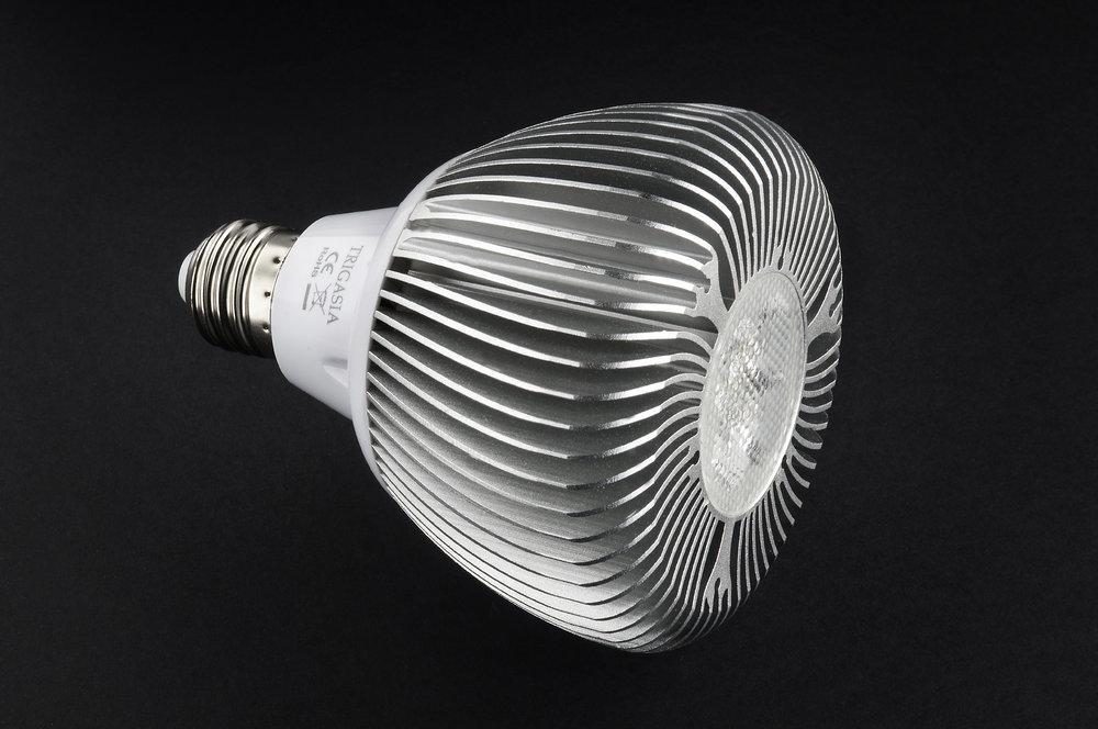 SERIE TG LED Bombilla tipo PAR, Cuerpo Aluminio, óptica Transparente E27 7x 14W