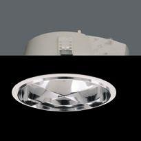 ZIP Downlight G24 q3 2x26W Equp Elect Refractor + celosía blanco