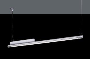 Minimus Luminaria Fluorescente Individual Colgante G5 T5 HO 39W color 3000ºK gris