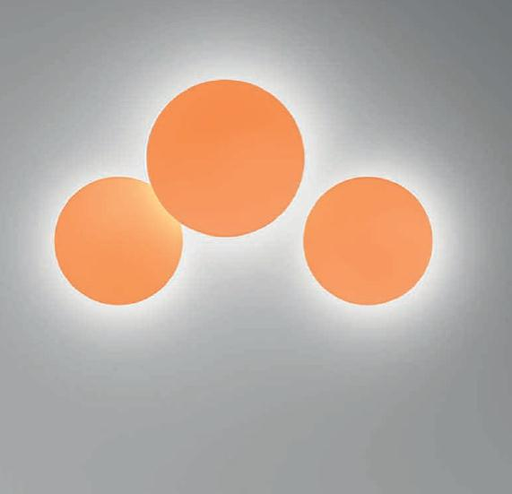 Puck Wall Art Single Wall lamp ø45cm 1x2GX13 22w Lacquered orange