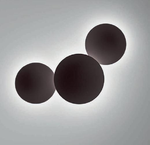 Puck Wall Art Single Wall lamp ø38cm 1x2GX13 22w Lacquered dark brown