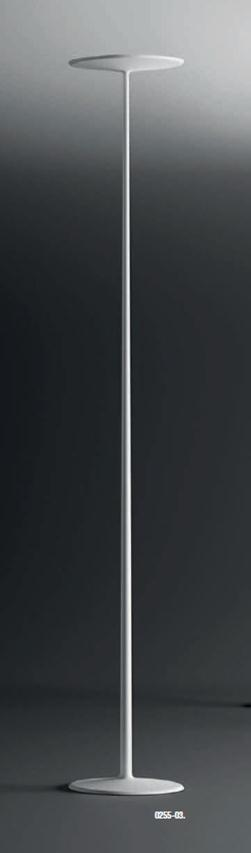 Skan Floor Lamp Copa Single 190cm Lacquered white Mate
