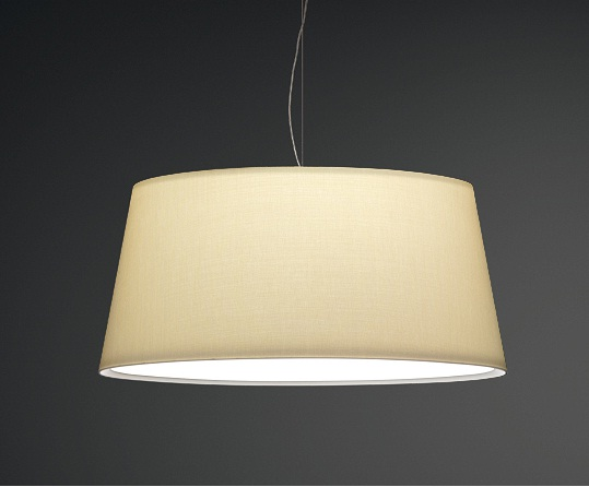 Warm Pendant Lamp maxi lampshade normal - Lacquered white roto mate
