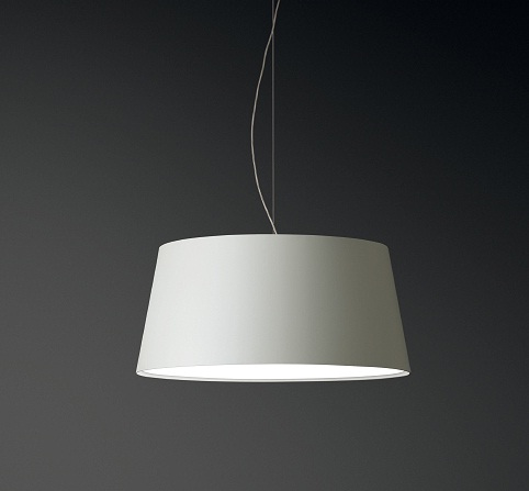 Warm Pendant Lamp Large lampshade normal - Lacquered white roto mate