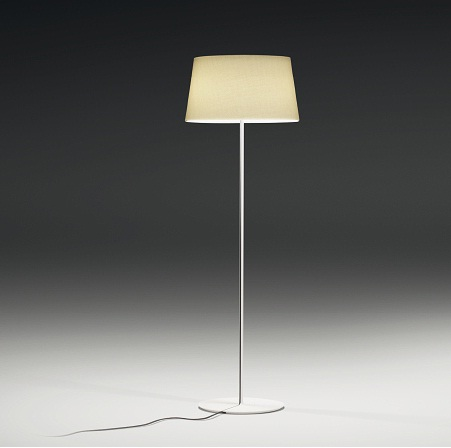 Warm Floor Lamp lampshade normal - Lacquered white Roto Mate