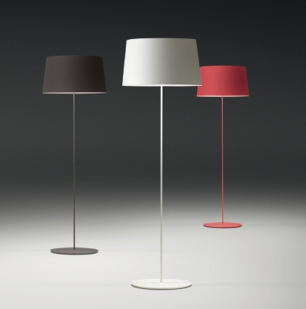 Warm Floor Lamp lampshade fibra Glass - Lacquered white Roto Mate
