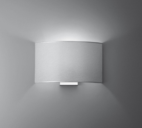 Combi Wall Lamp without switch Gx24q 2 1x18w lampshade trama of Aluminium Chrome