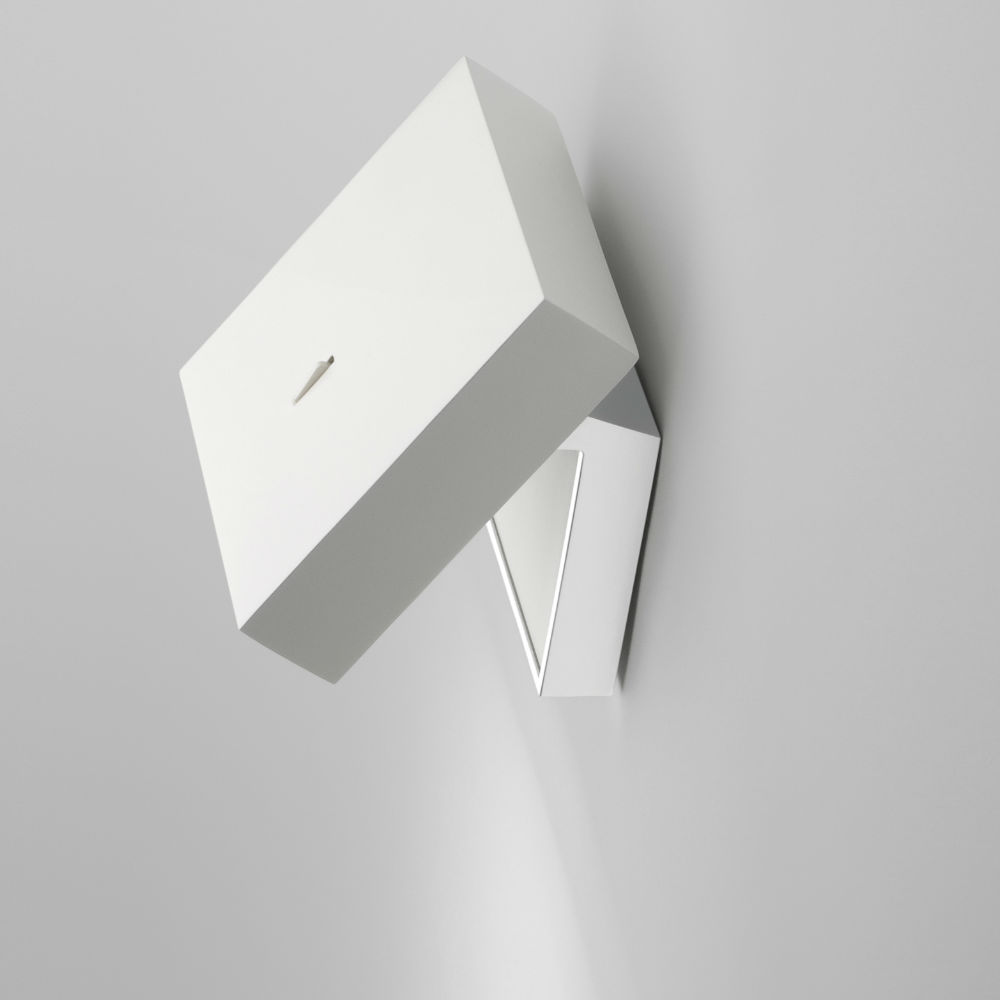 Alpha Wall Lamp Reading - Lacquered white matt and Chrome