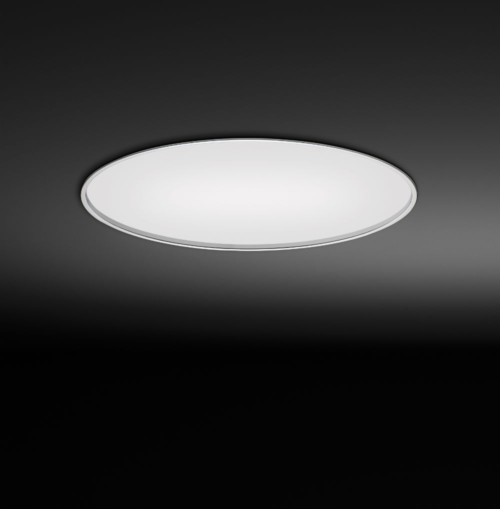 Big ceiling lamp Recessed ø123cm 2xG5 24W + 2xG5 39W + 2xG5 54W - White lacquered mate