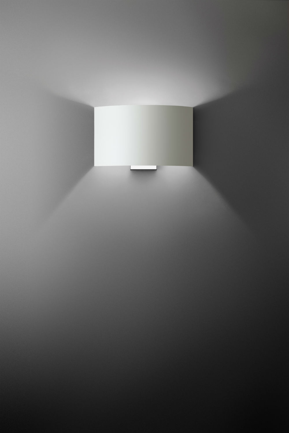 Combi Wall Lamp with switch Gx24q 2 1x18w lampshade laminado algodón Chrome
