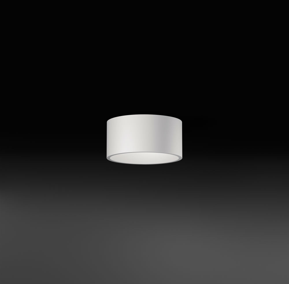 Domo ceiling lamp recto LED 3x3W - Lacquered white matt