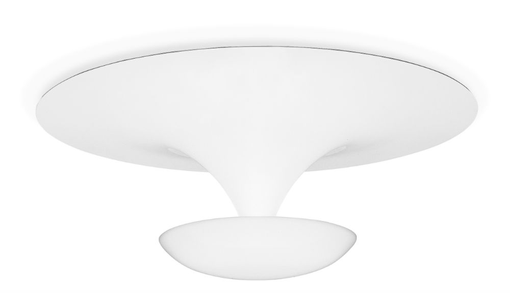 Funnel D75 ceiling lamp Halogen R7s 3x80w Lacquered white bright