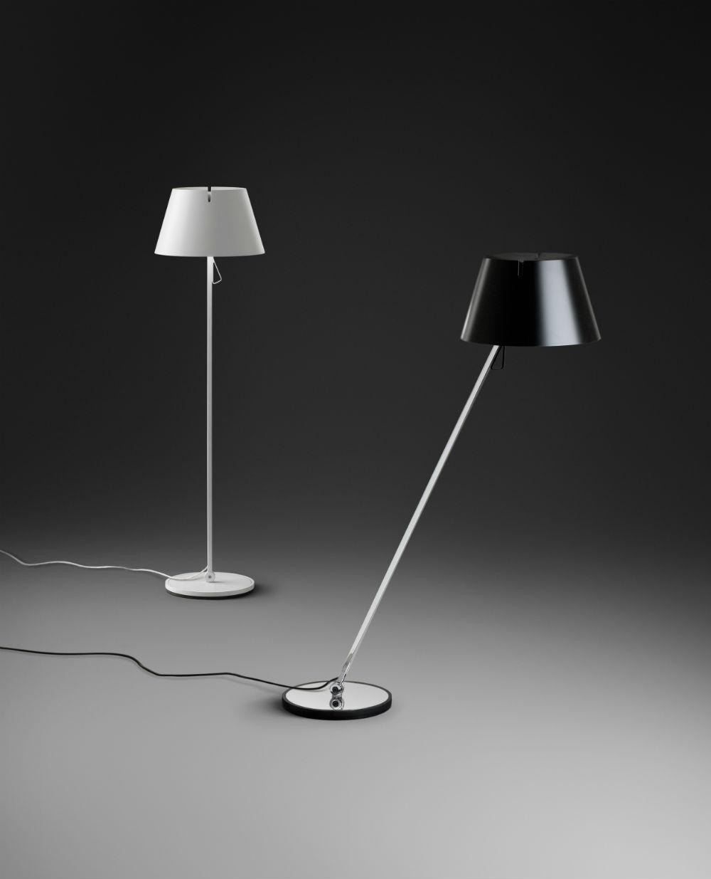 Giro lámpara de Pie con pantalla blanco