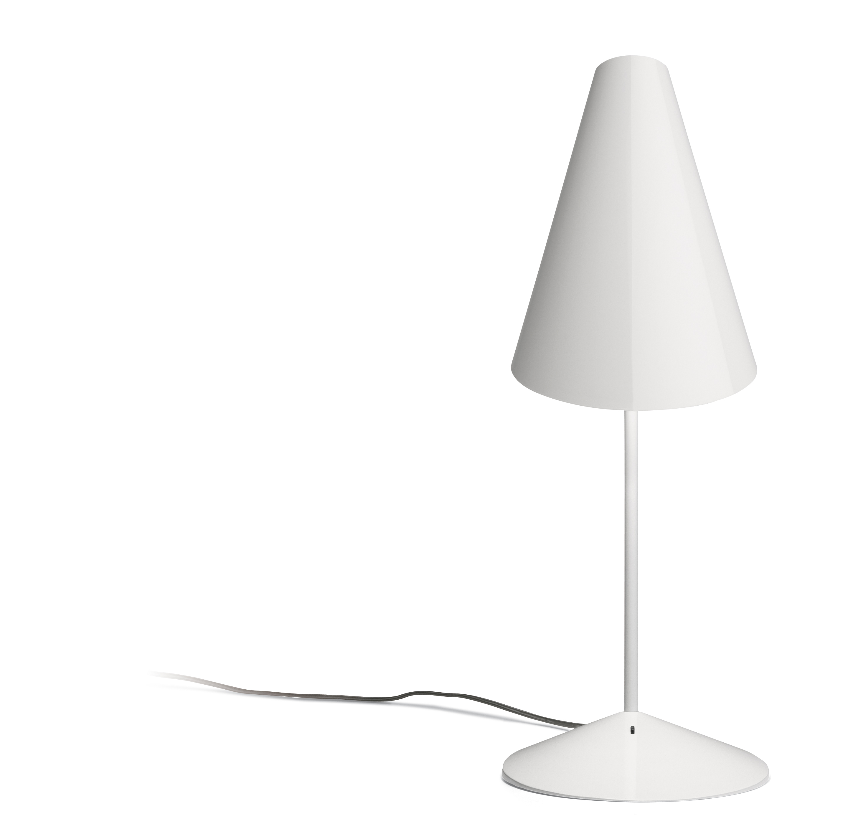 I.Cono Lampe de table 56cm 1xE14 46w - Laqué blanc brillant