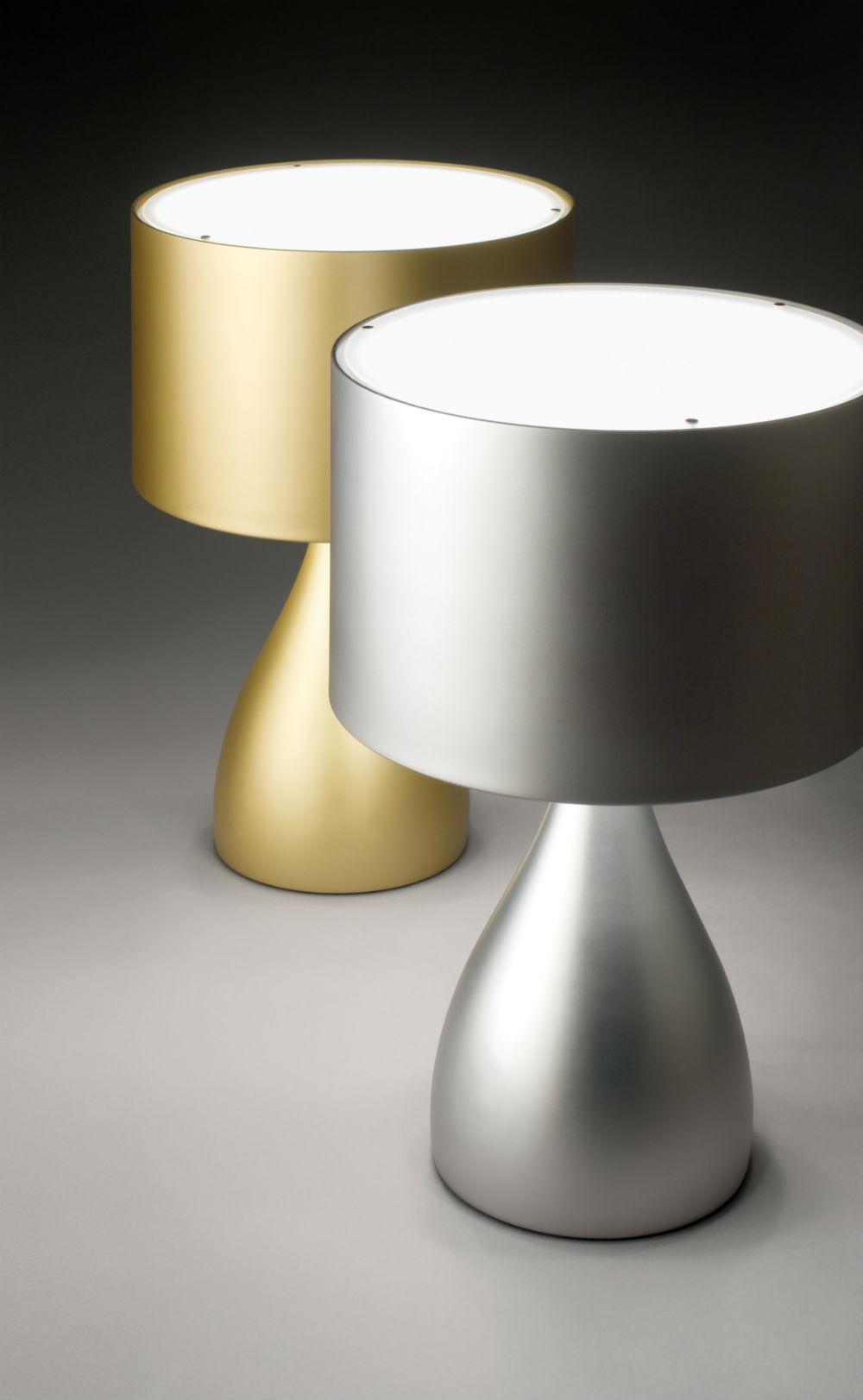 Jazz Lâmpada de mesa corta laca Prata