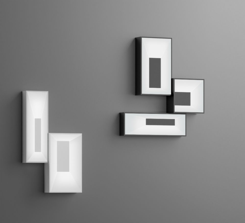 Link Wall Lamp composition 2 parts - Lacquered white Brillo