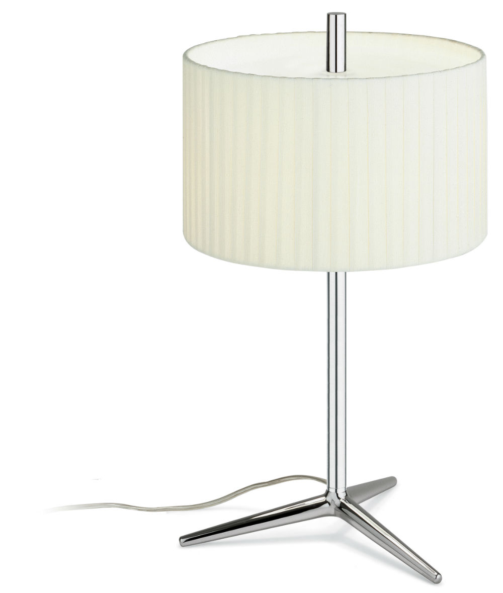 Plis Table Lamp Large Chrome/lampshade Beige