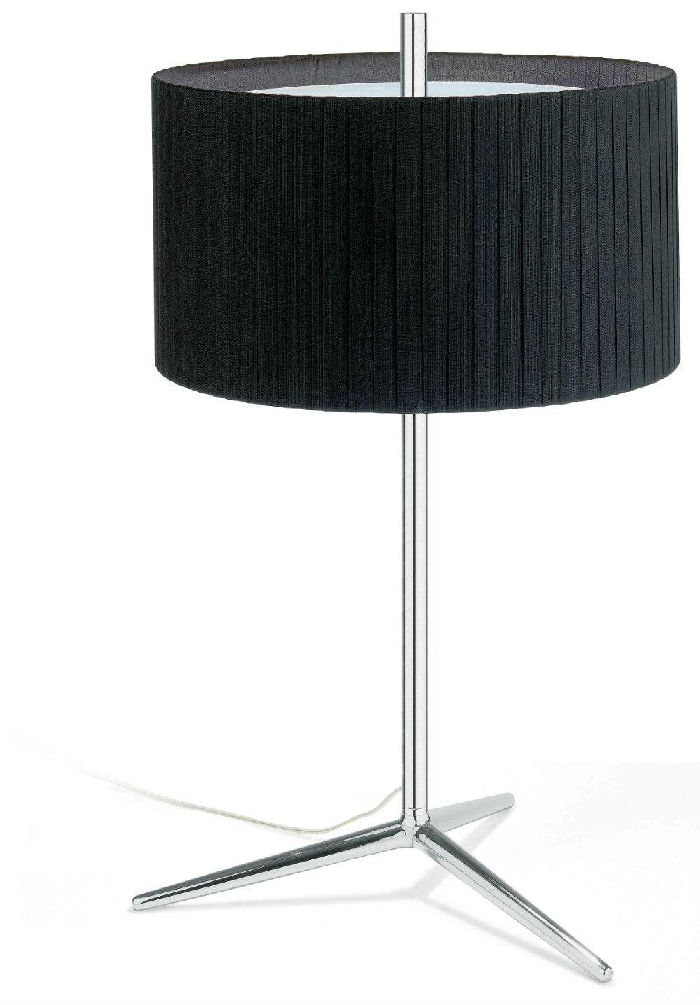 Plis Table Lamp Large Chrome/lampshade black