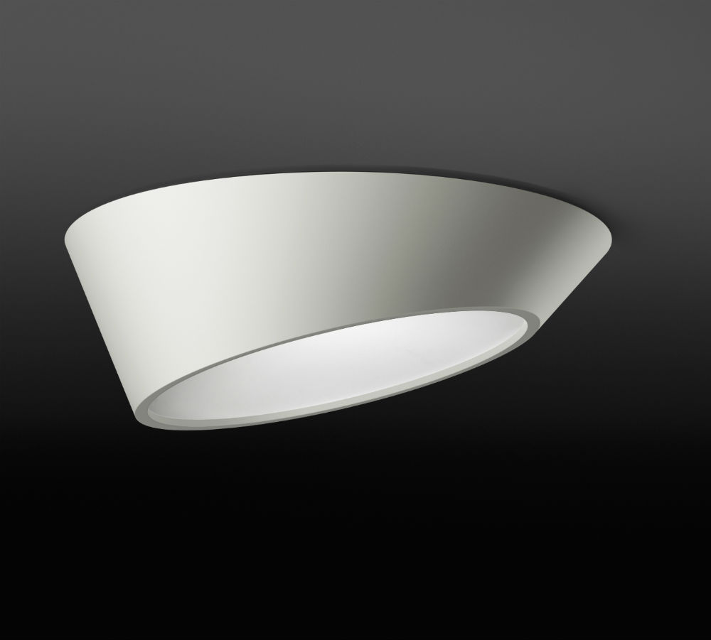 Plus ceiling lamp 80cm asimétrico Dimmable - white