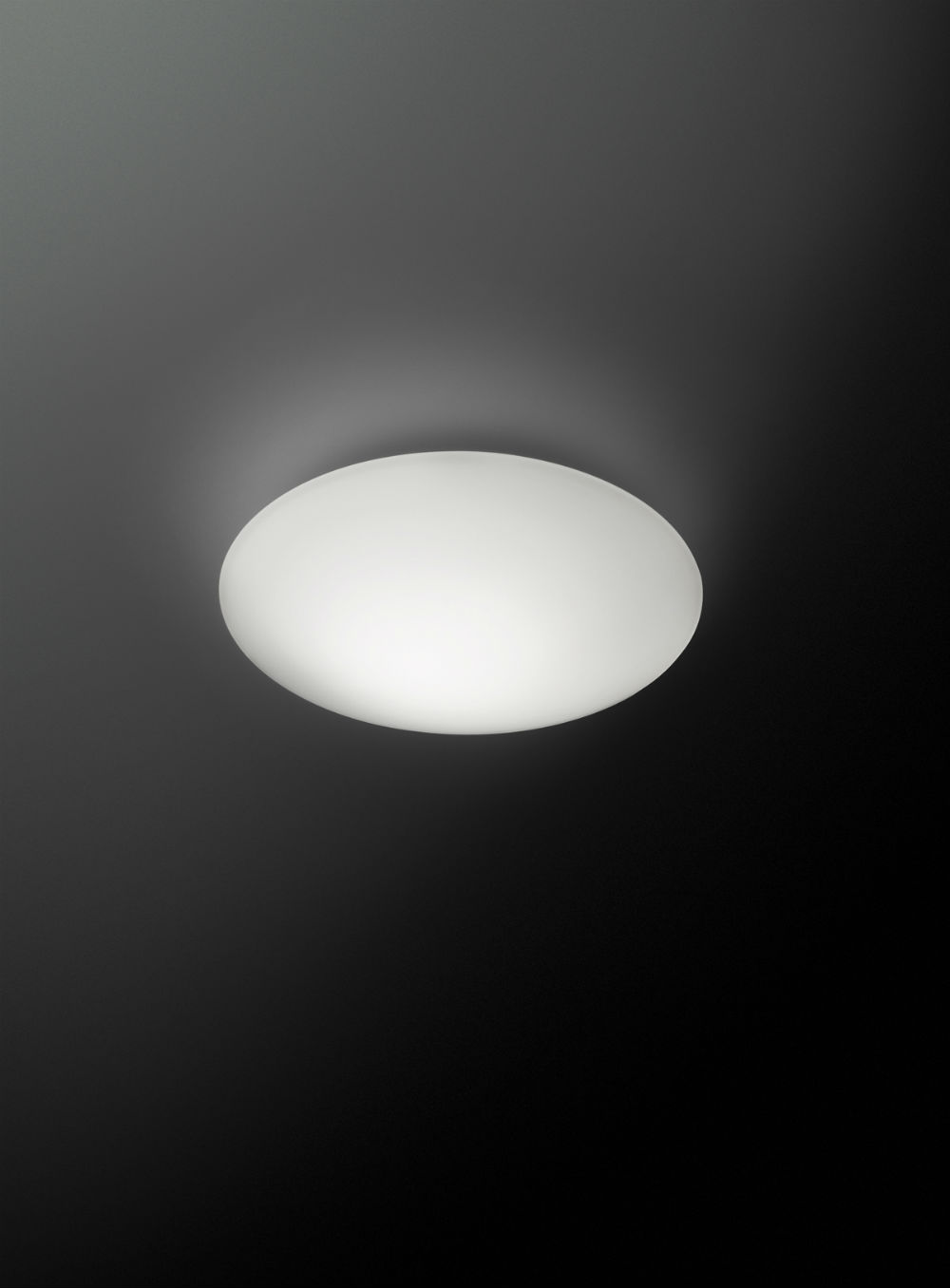 Puck Single Wall/Ceiling lamp ø24,4cm 1xLED 7.35W Lacquered matt white