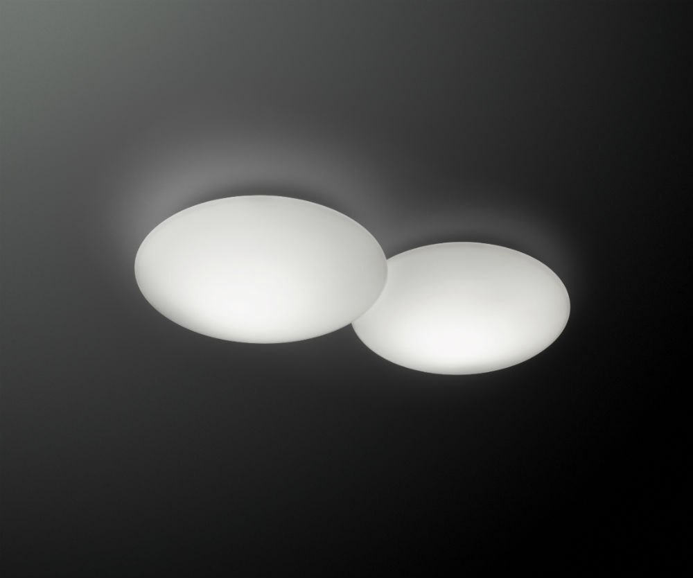 Puck double Ceiling lamp 2xLED 7,35W Lacquered matt white