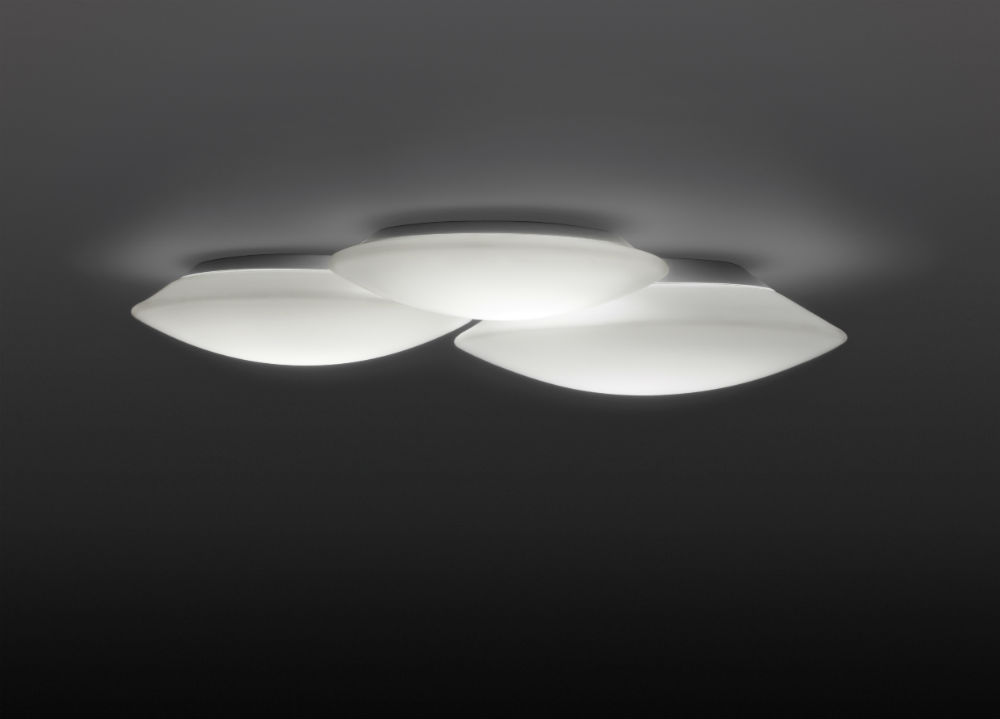 Puck triple Ceiling lamp 3xG9 48w Lacquered matt white